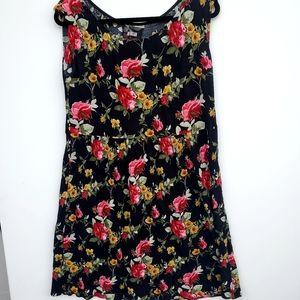 Reformation Black Floral Sleeveless Dress Size M